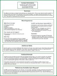 Resume Information On Resume