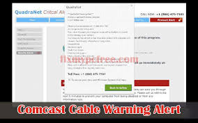 Deleting Comcast Cable Warning Alert Tech Support Scam