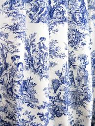 Curtain Panels Lined Toile Navy Custom French, White blue curtains drapes, Drapery valances long door wide custom living room bedroom decor