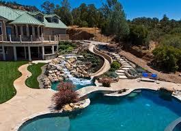 pool designs with slides. Unique Designs Swimming Pool Designs With Slides Waterfall To P