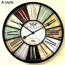 flip wall clocks oversized vintage wall clocks whole home decor large wall clock amp antique style