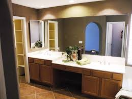 double vanity with makeup table. bathroom magnificent vanity with makeup table interior ideas double sink trends brown wooden white counter top under large mirror placed on marble ceramic