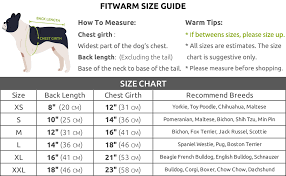 Pet Clothes Size Chart Fitwarm Knitted Thermal Pet Clothes For Dog Pajamas Pjs Coat Jumpsuit