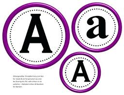 Free Printable Banners Free Letters Printable Circle Printable Banner Letters A Z 0 9