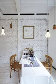 29 how paint interior brick wall ideal how paint interior brick wall dining room featuring white