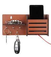 brown mdf side shelf pocket key holder sehaz artworks with regard to key holder shelf renovation t m l