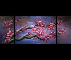 fashionable japanese cherry blossom canvas wall art modern abstract painting regarding cherry blossom oil painting modern