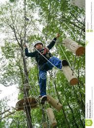 Walking Logs Kid Walking On A Logs Path In Adventure Park Stock Photo Image Of