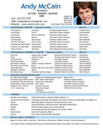 Professional Theatre Resumes Pin By Free Resume Templates Free Sample Resume Tempalates Image On