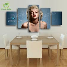 Marilyn Monroe Living Room Decor 5 Panel Marilyn Monroe Oil Canvas Painting Picture Wall Art Home