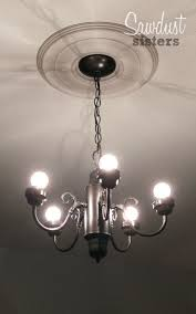 simple 5 chandelier gets a makeover