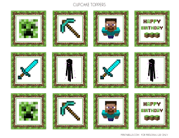 Free Minecraft Printables Catch My Party