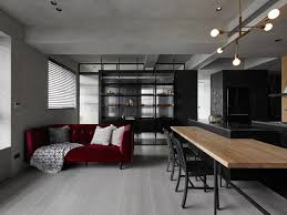 Century Designer Studio Kc Design Studio Designs A Moody Black Apartment For A