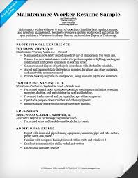 Sample Resume For Lawn Care Worker Serpto