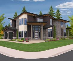 northwest modern home architecture. Unique Architecture The Natural  Northwest Modern House Plan On Home Architecture O