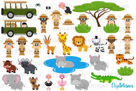 Printed in the united states of america. Safari Clipart African Safari Tour Graphic By Clipartisan Creative Fabrica