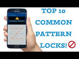 Most Common Pattern Locks