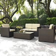 Shop Crosley Furniture Palm Harbor 4Piece Wicker Patio Palm Harbor Outdoor Furniture