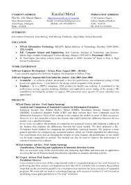 Latex Resume Format It Resume Cover Letter Sample