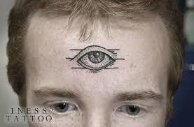фото тату третий глаз в стиле дотворк от мастера инесса кефир