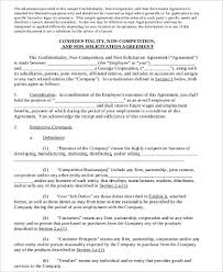 Sample Business Non Compete Agreement 7 Examples In Word Pdf