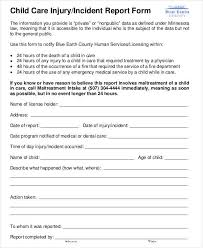 Child Care Incident Report Example Free 35 Incident Report Forms In Pdf Doc