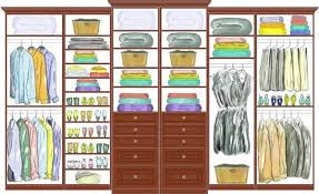 Small Picture An elaborate closet with woodgrain drawers and shelves CCDS