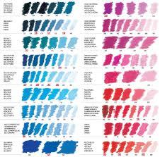 Rembrandt Pastel Color Chart Sennelier Artists Soft Pastels Singles Colour Chart