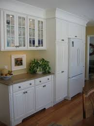 built in refrigerator cabinet. Glass Faced Upper Cabinets \u0026 Built In Around Fridge | Idea For The New House Pinterest Face, And Kitchens Refrigerator Cabinet E