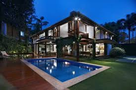 beautiful home pools. Plain Home Pool Of House With Wooden Elements And Beautiful Garden Inside Home Pools