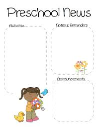 Spring Preschool Newsletter Template | The Crafty Teacher ...