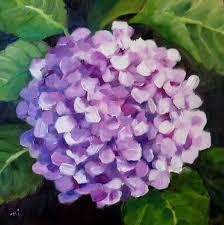 hydrangea painting on canvas