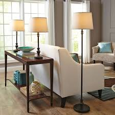 better homes and gardens 3 piece lamp set 1 floor and 2 table lamps bronze white