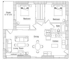 Existing House Plans   CONTENTSPlan One  Northern hemisphere  sun from South    The living spaces are facing S  getting the most sunlight as that    s where people spend most time in