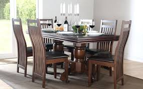 dining tables 6 chairs java extending dark wood dining table 4 6 black dining room