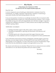 Lovely Administrative assistant Cover Letter Samples | personal leave