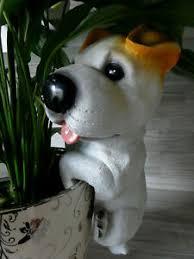 Details Zu Dekofigur Hund Blumentopfzaunhänger Für Haus Garten Ca 27 Cm Jack Russel