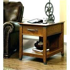 forge side table coffee elegant lift collection sauder craftsman oak