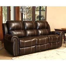 abbyson living leather sofa living leather power reclining sofa in brown