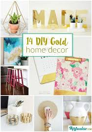 14 diy gold home decor on the cheap tip junkie