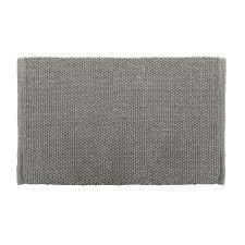 colordrift popcorn bath rug 20 in x 30 in gray cotton bath rug