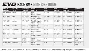 Bike Size Guide Bike Fit Evo Cycles