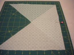 Continuous Bias Quilt Binding: A Step-By-Step Quilting Tutorial & Step 2 - Cutting Triangle Adamdwight.com