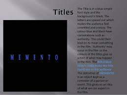 memento video essay 10