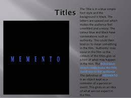 memento video essay 10