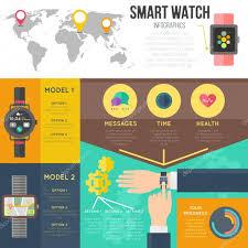Smartwatch App Design Smart Watch Infographics Set Vector Elements For Smartwatch