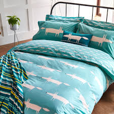 mr fox bedding mr fox bedding mr fox super kingsize duvet cover teal scion