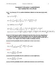 statistics and probability study resources 5 pages homework 5 written key