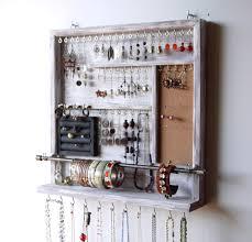 Wall Jewelry Organizer Jewelry Organizer Earrings Holder Jewelery Rack Necklace