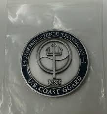 Marine Science Technician Challenge Coin United States Coast Guard Marine Science Technician Ebay